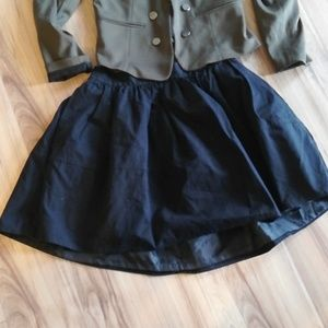 Black structured circle skirt